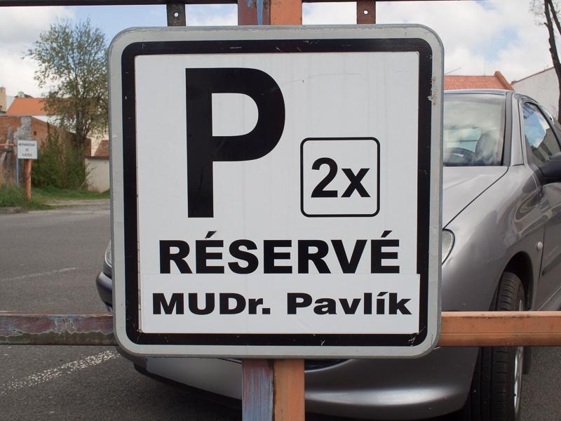 Parkování - MUDr. Pavlík